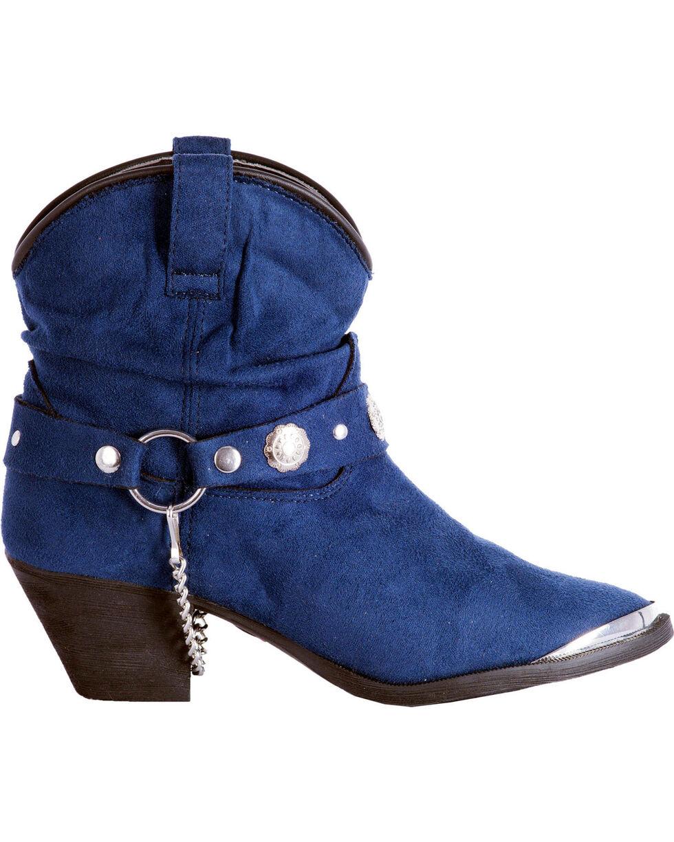 Dingo Women's Navy Fiona Buckle Short Boots - Pointed Toe , Navy, hi-res