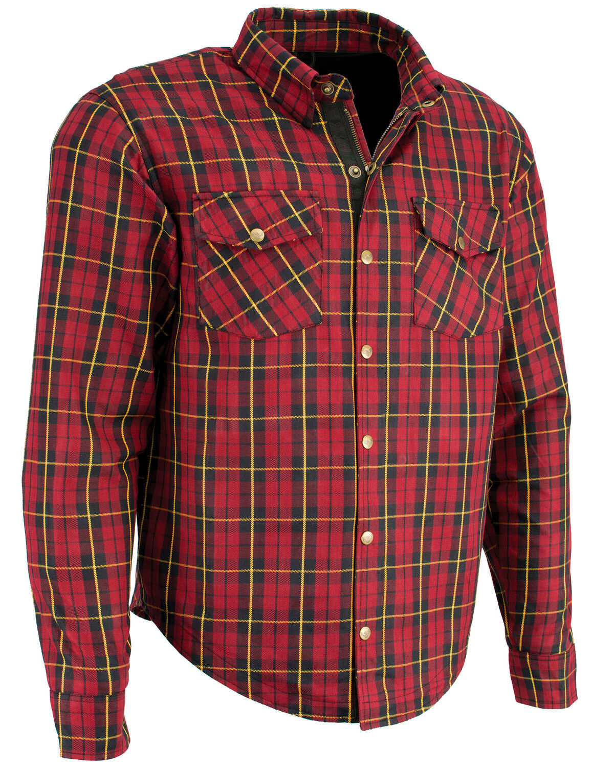 Milwaukee Leather Men/'s Performance Aramid Reinforced Checkered Flannel Long