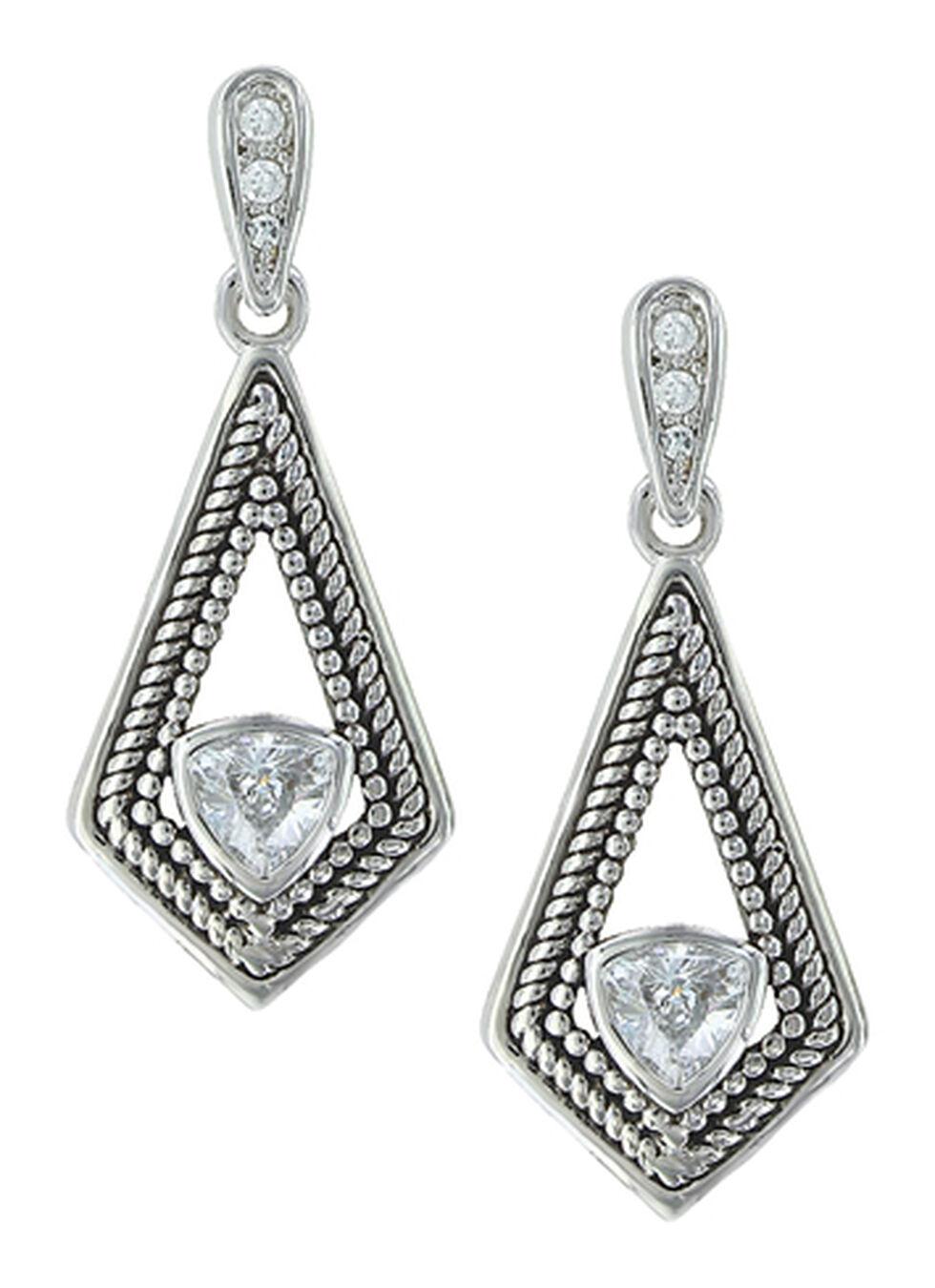 Montana Silversmiths Women's Roped Kite Treasure Earrings, Silver, hi-res