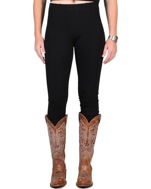 Boom Boom Jeans Women's Black Leggings, Black, hi-res