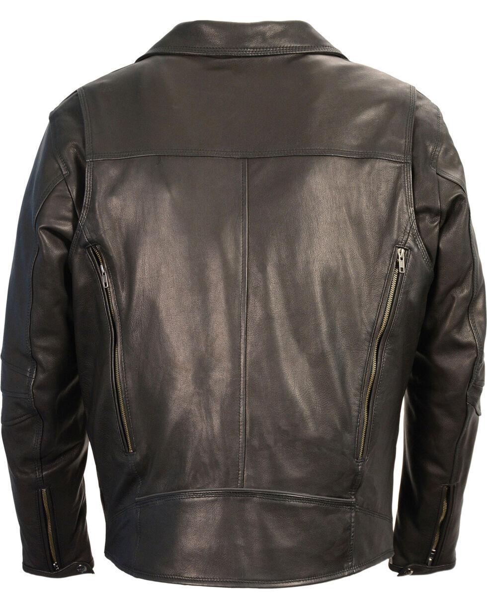 Milwaukee Leather Men's Black Lightweight Extra Long Biker Jacket , Black, hi-res