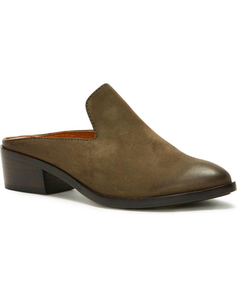 Frye Ray Nubuck Leather Block Heel Mules fqpdk5