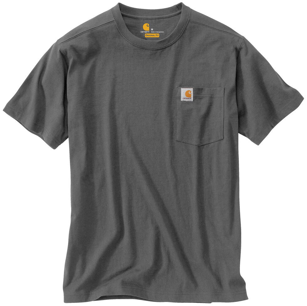 Carhartt Maddock Pocket Short Sleeve Shirt - Big & Tall, Grey, hi-res
