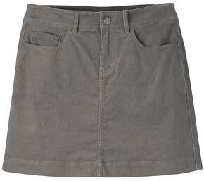 Mountain Khakis Women's Canyon Cord Slim Fit Skirt, Dark Grey, hi-res