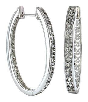 Montana Silversmiths Women's Shining Oval Earrings , Silver, hi-res