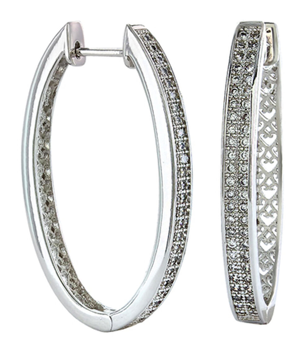 Montana Silversmiths Women's Shining Oval Earrings , Silver, hi-res