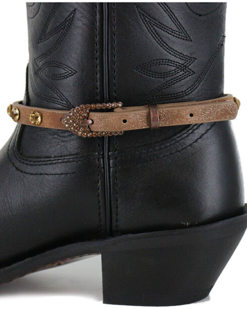Shyanne Women's Crystal Boot Bracelet , Brown, hi-res