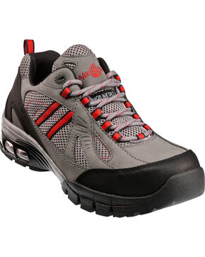 Men's Nautilus Men's Grey Metal Free Work Athletic Shoes - Comp Toe , Grey, hi-res