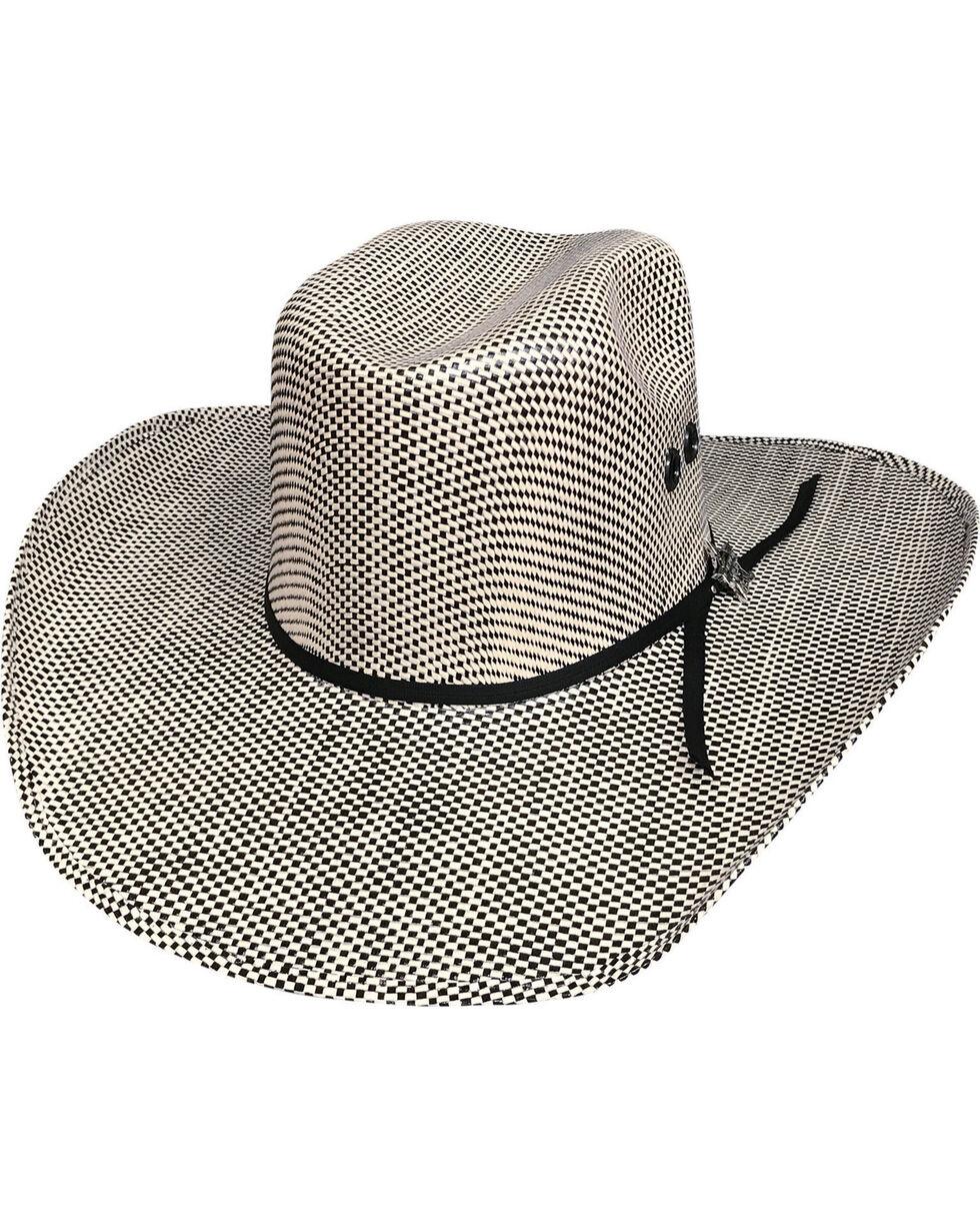 Bullhide Men's Black Smoke Straw Cowboy Hat, Black, hi-res