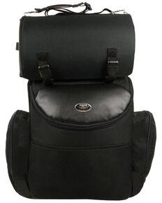 Milwaukee Leather Large Nylon Two Piece Sissy Bar Bag , Black, hi-res