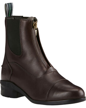 Ariat Women's Heritage IV Zip Paddock Boots - Round Toe, Lt Brown, hi-res
