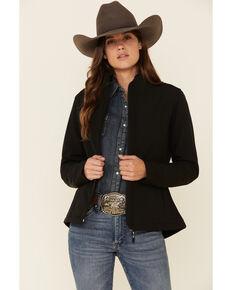 Roper Women's Black Softshell Bonded Fleece Lined Jacket , Black, hi-res