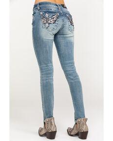 41d4d95fc22 Miss Me Womens Diamond Wing Skinny Jeans