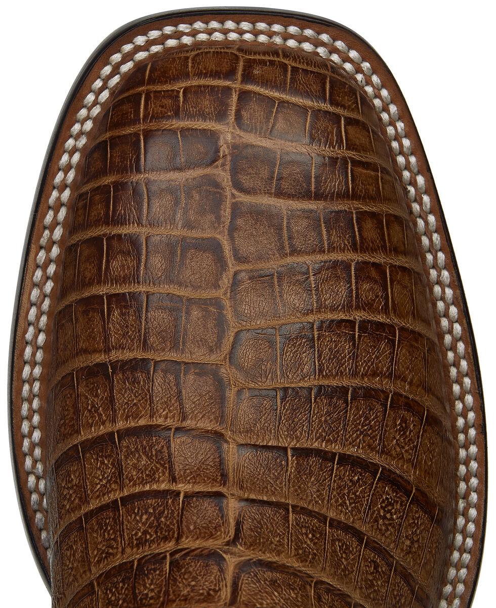 Lucchese Handmade Tan Sean Belly Caiman Cowboy Boots - Square Toe , Tan, hi-res
