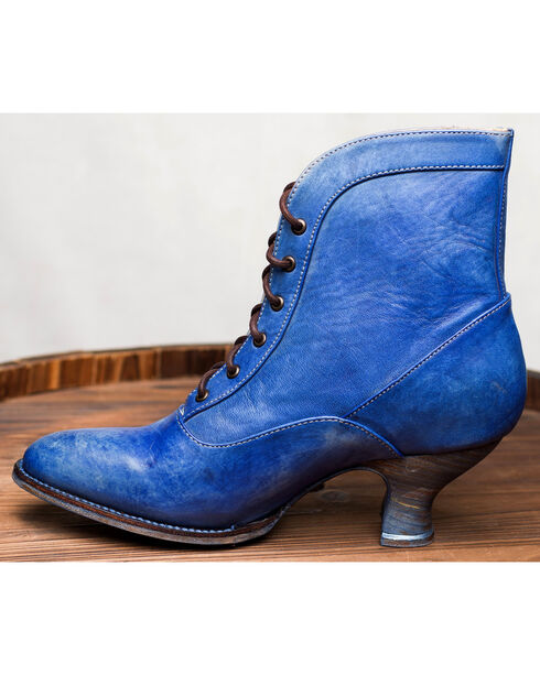Oak Tree Farms Jacquelyn Blue Boots - Medium Toe, Blue, hi-res