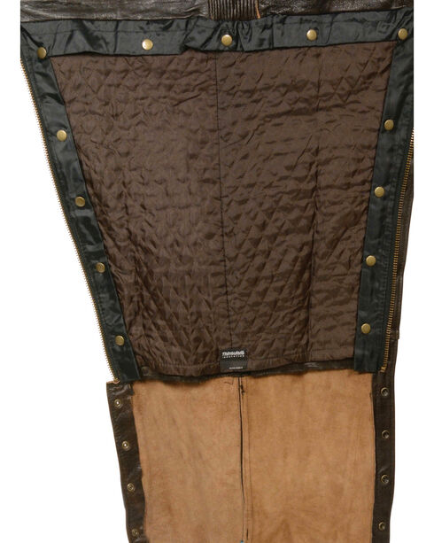 Milwaukee Leather Men's Retro Brown Four Pocket Thermal Lined Chaps, Brown, hi-res
