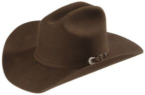 Justin Rodeo 3X Wool Felt Cowboy Hat, Brown, hi-res