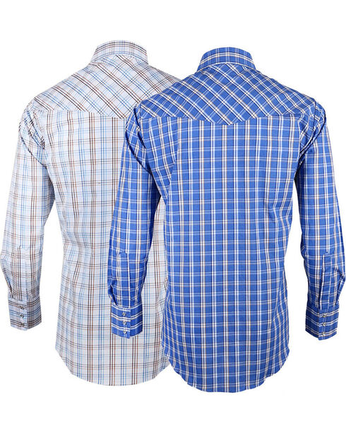 Ely Cattleman Men's Assorted Long Sleeve Checkered Shirt, Multi, hi-res