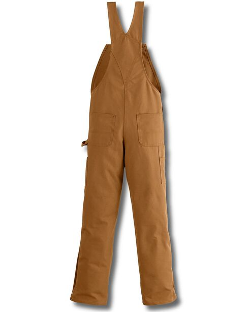 Carhartt Flame Resistant Bib Work Overalls, Carhartt Brown, hi-res