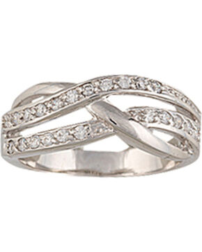 Montana Silversmiths Twin Channels Ring, Silver, hi-res