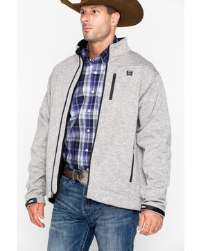 Cinch Men's Heather Grey Bonded Jacket, Heather Grey, hi-res