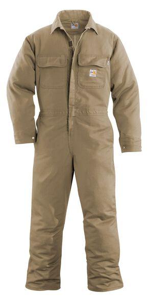 Carhartt Flame Resistant Work Coveralls - Big & Tall, Khaki, hi-res