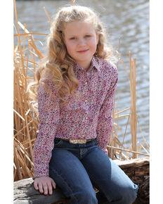 5765b4679 Cruel Girl Girls Floral Print Snap Long Sleeve Western Shirt, Multi, hi-res