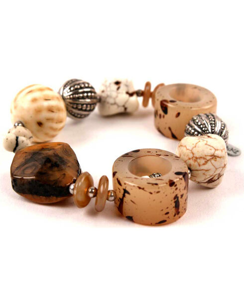 Treska Women's Chunky Stretch Bracelet, Tan, hi-res