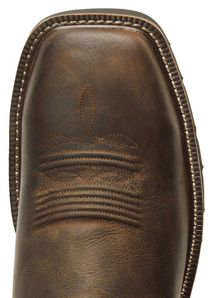 Justin Men's Stampede Driller Waterproof Work Boots - Plain Toe, Tan, hi-res