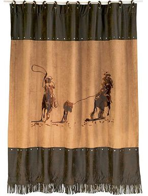 HiEnd Accents Team Roping Shower Curtain, Multi, hi-res