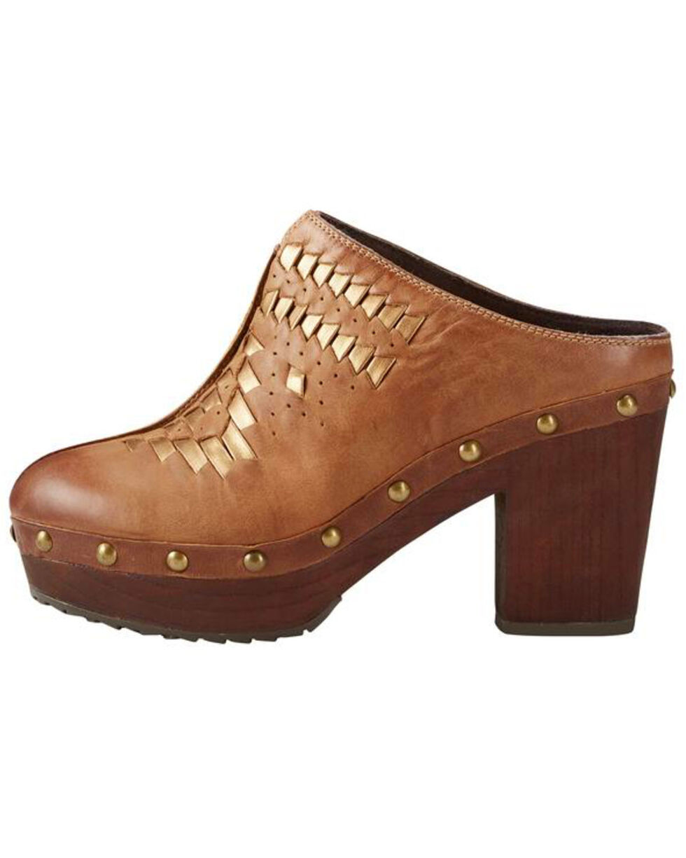 Ariat Women's Bria Bronzed Brown Clogs, Brown, hi-res