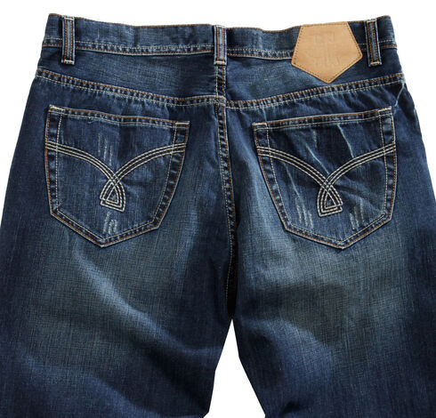 Tin Haul Men's Regular Joe Straight Leg Deco Stitch Jeans, Denim, hi-res