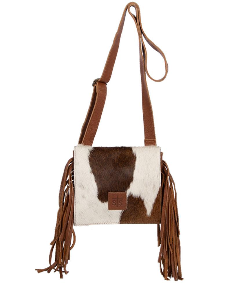 STS Ranchwear Women's Cowhide Miss Kitty Handbag, Brown, hi-res