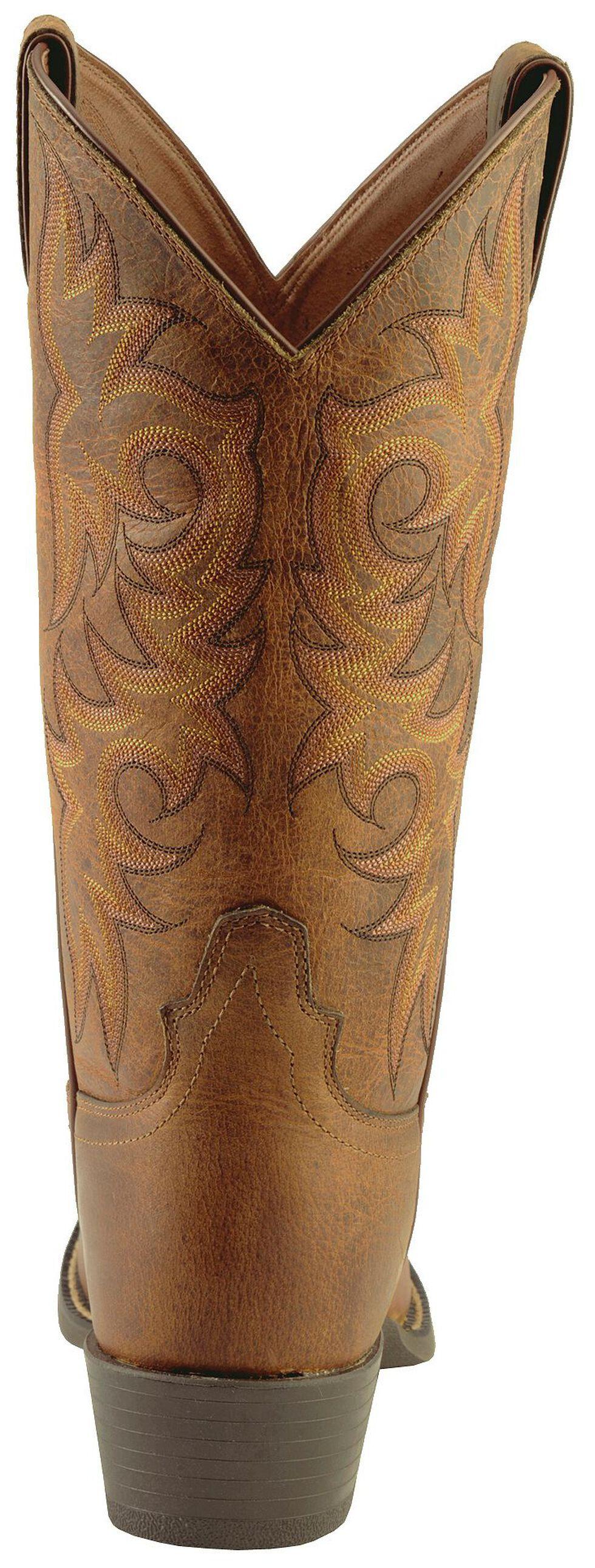 Justin Stampede Western Boots - Medium Toe, Tan, hi-res