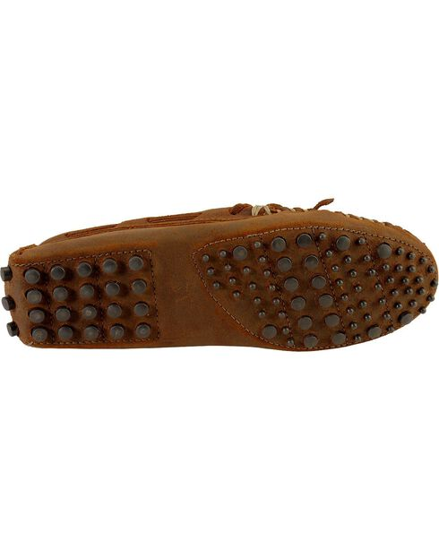 Minnetonka Cowhide Driving Moccasins, Brown, hi-res