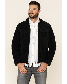 Moonshine Spirit Men's Black Cromwell Suede Roadie Jacket , Black, hi-res