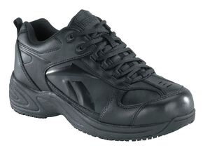 Reebok Women's Jorie Athletic Oxford Work Shoes, Black, hi-res
