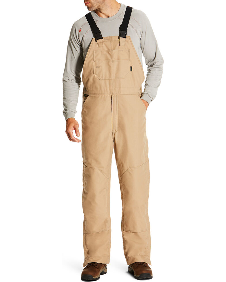 6a2bf268c1d Ariat Men s Beige FR Insulated Bib Overalls