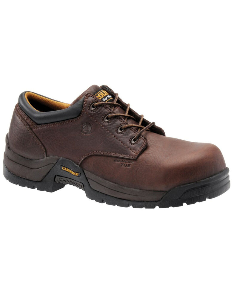 Carolina Men's Dark Brown ESD Oxford Shoe - Composite Toe, Dark Brown, hi-res