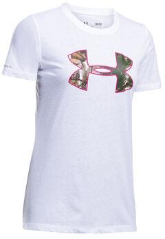 Under Armour Women's White Camo Logo Triblend T-Shirt, White, hi-res