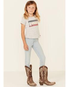 Levi's Girls' Todey Light Wash Pull-On Denim Leggings , Light Blue, hi-res