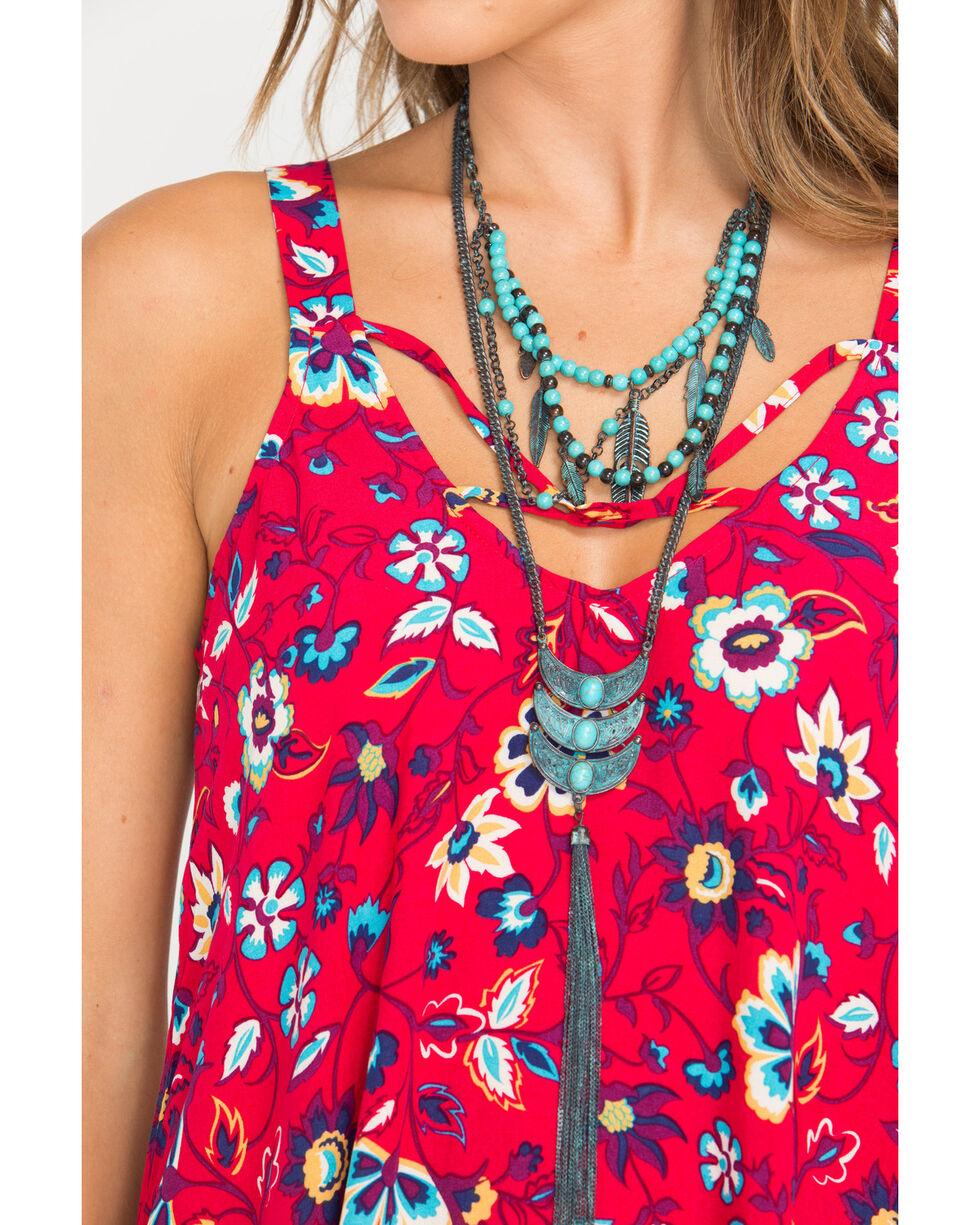 Shyanne Women's Odessa Triple Bead Tassel Necklace, Turquoise, hi-res
