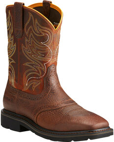 Ariat Sierra Men's Shadowland Mesa Work Boots - Soft Toe, Brown, hi-res