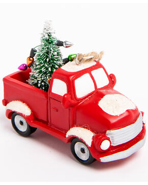 BB Ranch Red Truck Ornament, Red, hi-res