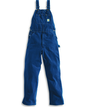 Carhartt Bib Washed Denim Work Overalls - Big & Tall, Dark Stone, hi-res