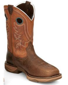 Tony Lama Men's Lopez Waterproof Western Work Boots - Steel Toe, Brown, hi-res