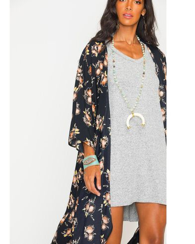 Ces Femme Women's Floral Long Kimono Cardigan | Sheplers