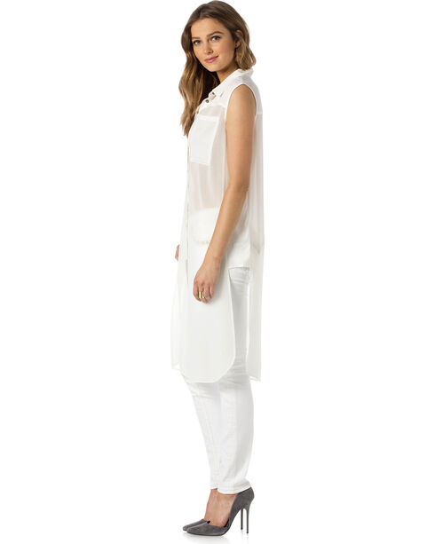 Miss Me Women's To The Extreme Top, White, hi-res