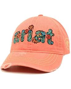 Ariat Women's Pink Cactus Logo Embroidered Ball Cap , Pink, hi-res