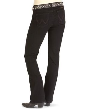 "Wrangler Jeans - Q-Baby Ultimate Riding Denim Jeans - 30"", 32"", 34"", 36"", 38"", Blk Magic, hi-res"